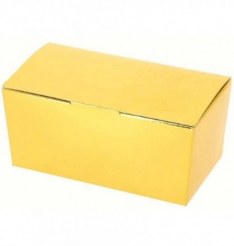 Paper box for chocolate - 250 g - Gold 112x58x60 mm