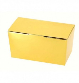Paper box for chocolate - 375g - Gold 127x68x60 mm