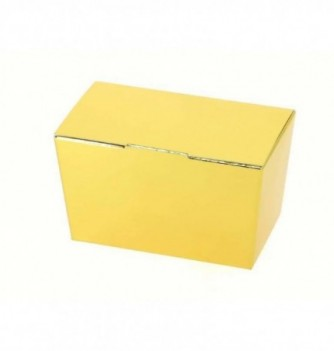 Paper box for chocolate - 125g - Gold 100x52x57 mm