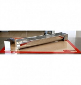 Stainless Steel mold for Yule log - 509x83x70mm