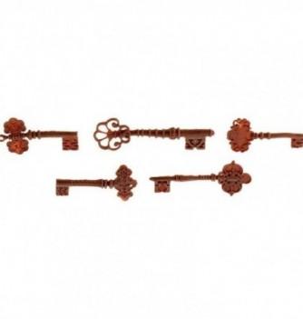 ASSORTIMENT 5 CLES antiques 5.5-8.5x1cm