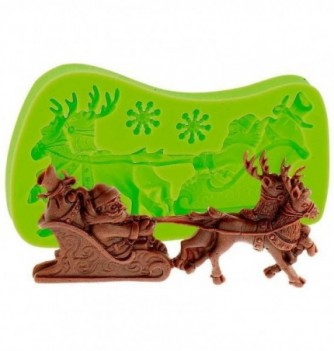 Silicone Mold for Decorations - Christmas Sledge 4.5x11cm