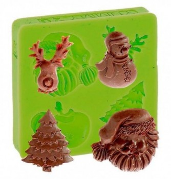 Silicone Mold for Decorations - Christmas  3.5x2-3.5cm