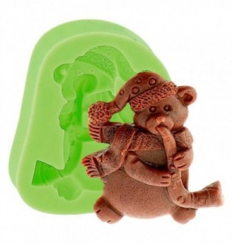 Silicone Mold for Decorations - Teddy Bear with Trumpet...