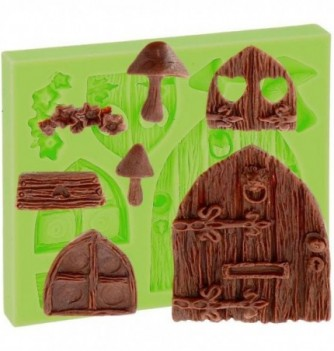 Silicone Mold for Decorations - Doors and Windows 1.5-7cm