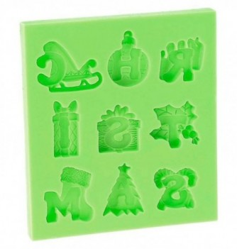 Silicone Mold for Decorations - Christmas Letters 2-3.5cm