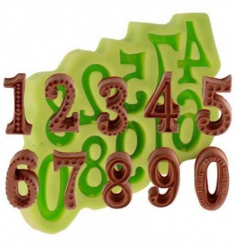 Silicone Mold for Decorations - Letters 4x2.5cm