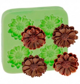 Silicone Mold for Decorations - Flowers x 4 3x3cm