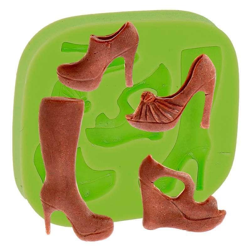 Moule silicone Chaussures à talon 3-4cm 3pcs