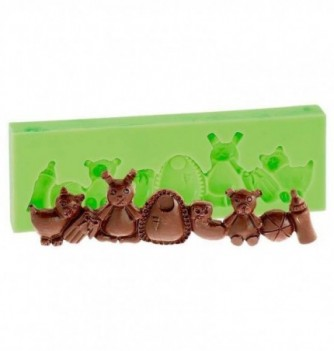 Silicone Mold for Decorations - Children Frieze 11.5x3cm