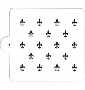 Plastic Stencil - Lilies - x18 - 25x20 mm 195x180mm
