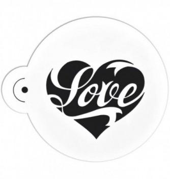 Plastic Stencil - Love 70x55mm