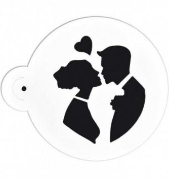 Pochoir rond Couple