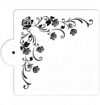 Plastic Stencil - Roses 150x150mm