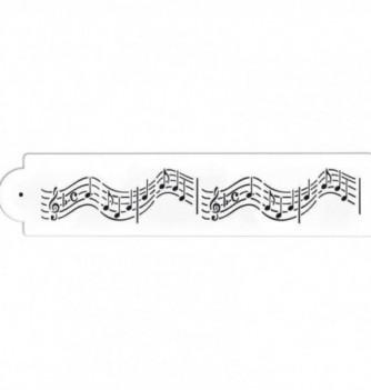 Plastic Stencil - Sheet music 305x50mm