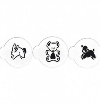 Plastic Stencil - Baby Animals x 3 80x95mm