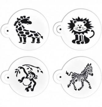 Plastic Stencil - Animals of the Savannah x 4 75x70mm