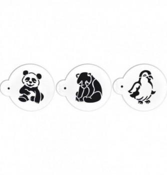 Plastic Stencil - Animals x 3 70x85mm