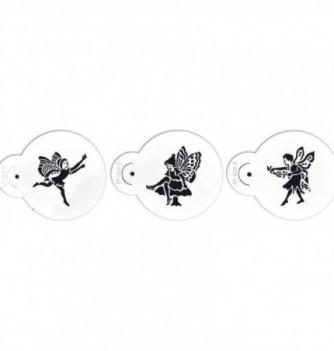 Plastic Stencil - Fairies x 3 70x80mm