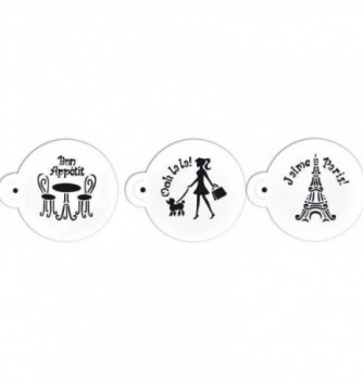Plastic Stencil - Paris x 3 70x70mm