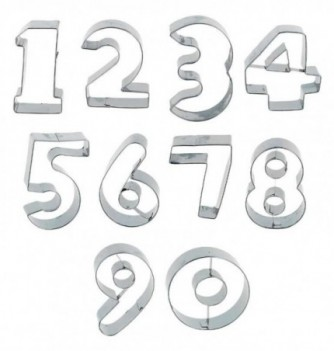 Stainless Steel Cutter - Numbers x 10 pcs
