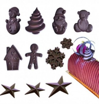 Thermoformed Chocolate mold - Christmas x 8pcs