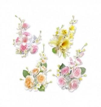 Bouquet de Fleur en Pastillage Coloré Grand Modèle