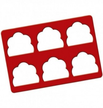 Silicone Stencil for Yule Log Eges - Clouds 75x88mm