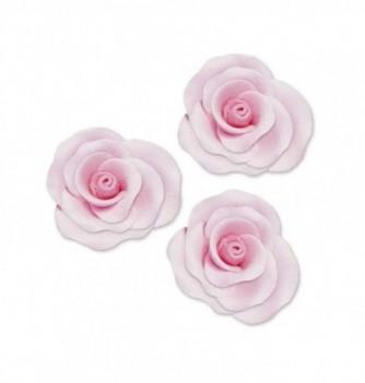 Gumpaste Flowers - Big Pink Roses Diam.40mm