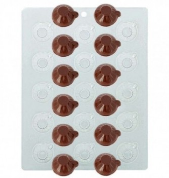 Plastic Plate for Chocolate - Coffee Cups x 15 diam 3cm