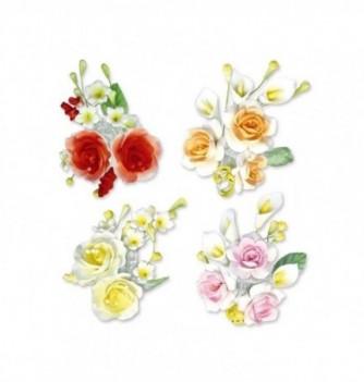 Gumpaste Flowers - Colored flowers h140mm