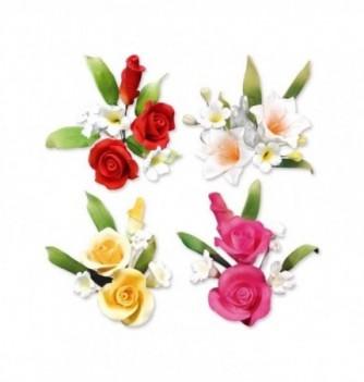 Bouquet de Fleur en Pastillage Assortiment Coloré