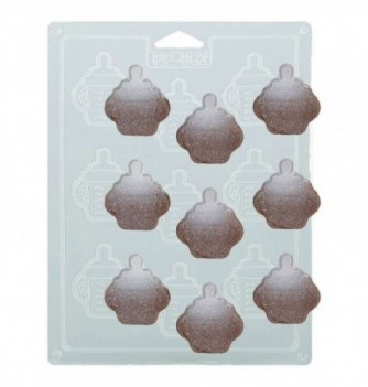Plastic Plate for Chocolate - Baby Bottles x 9 5x4.5cm