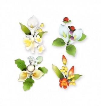 Gumpaste Flowers - Season Series colored flowers h80mm