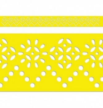 Regle Pochoir Souple 600x60mm Frise Fleur Mosaique