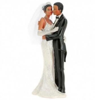 Figurine Gâteau Mariage Couple Mariés s'Embrassant