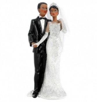 Figurine Gâteau Mariage Couple Main dans la Main