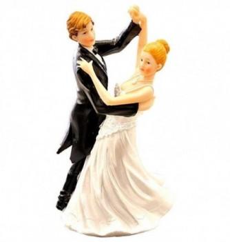 Figurine Gâteau Mariage Couple qui Danse