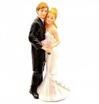 Figurine Gâteau Mariage Robe Ondulé