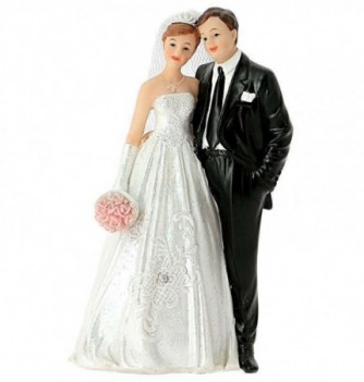 Figurine Gâteau Mariage Robe Brodée