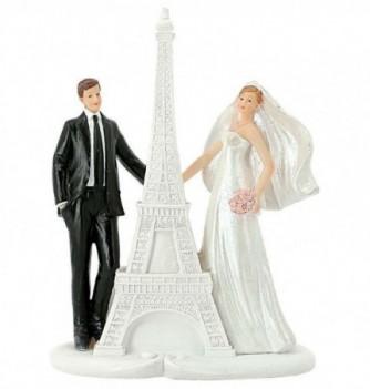 Figurine Gâteau Mariage avec Tour Eiffel
