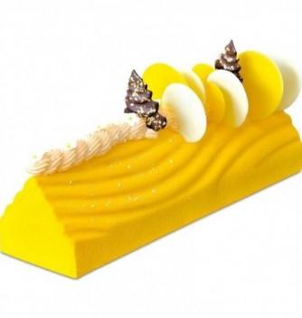 Yule Log Cake Mold in Plastic - Wavy Triangle