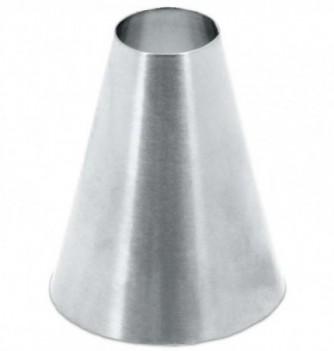 Stainless steel pastry tube smooth n18
