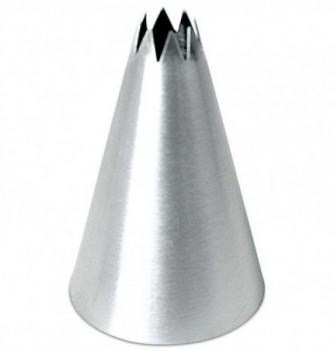 Stainless steel pastry tube fluted D8