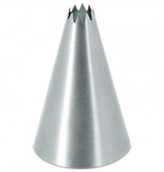 Stainless steel pastry tube petit-four 10 teeth