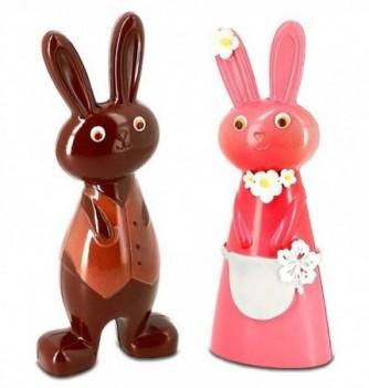 Moule Chocolat Lapin Mr & Mme