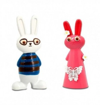 Injected Mould - Boy and Girl Rabbit