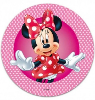 Edible Cake Topper - Minnie - Pink