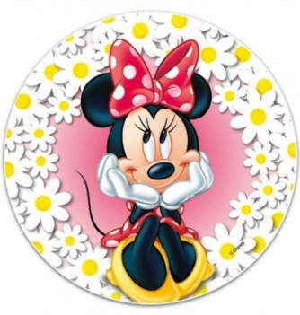 Edible cake topper - MINNIE flower