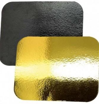 LOT 10 CARTONS rectangle Or/Noir 60x40cm